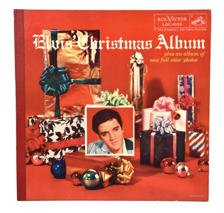 Rare 1957 Elvis' Christmas Album with Gold Gift Sticker