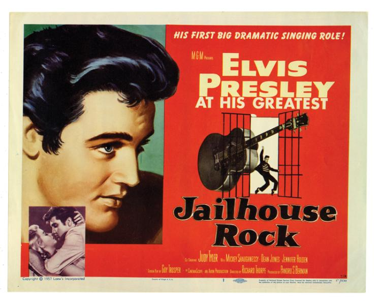 Complete Set of Eight (8) Lobby Cards for Elvis Presley's 1957 <em>Jailhouse Rock</em>