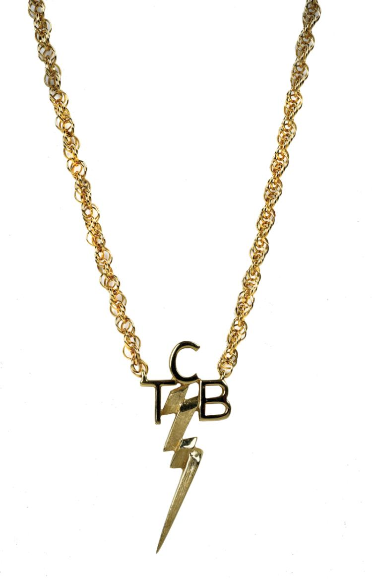 TCB Necklace Given by Elvis Presley to Tour Promoter Tom Hulett