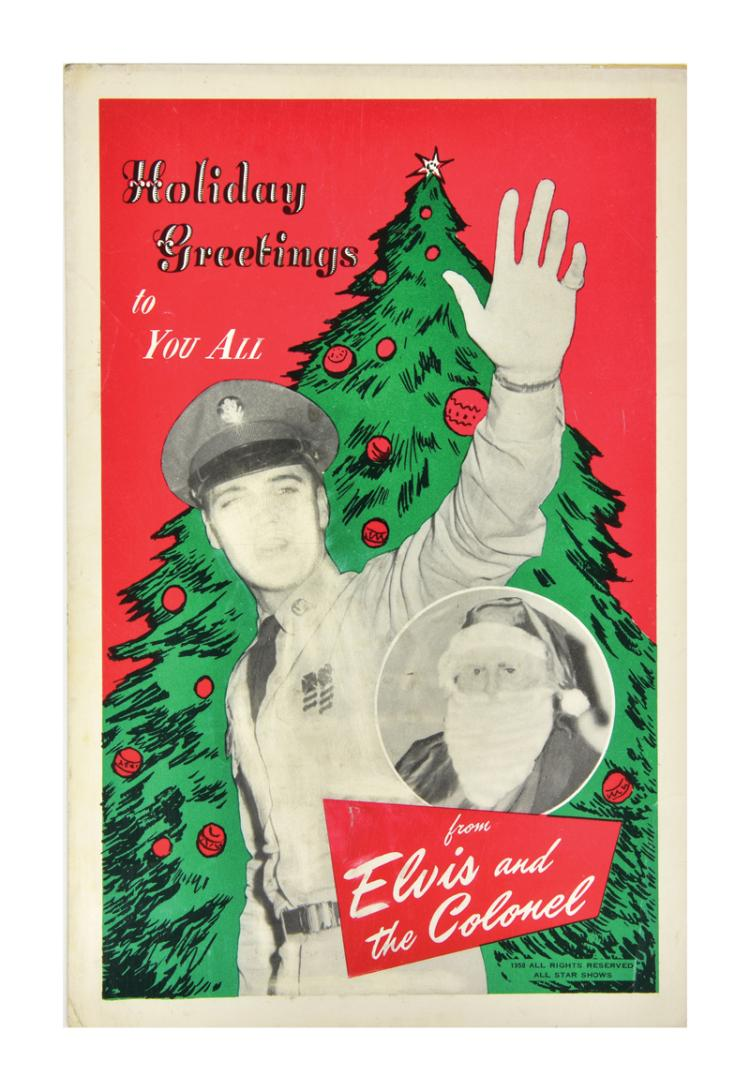 Impressive and Comprehensive Collection of Elvis Presley Christmas and Other Holiday Cards (20)
