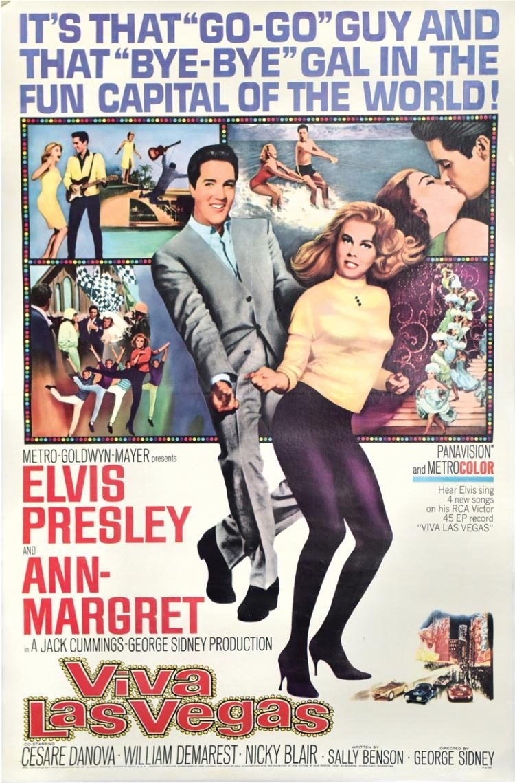 1964 <em>Viva Las Vegas</em> One-Sheet Movie Poster - Starring Elvis Presley and Ann-Margret