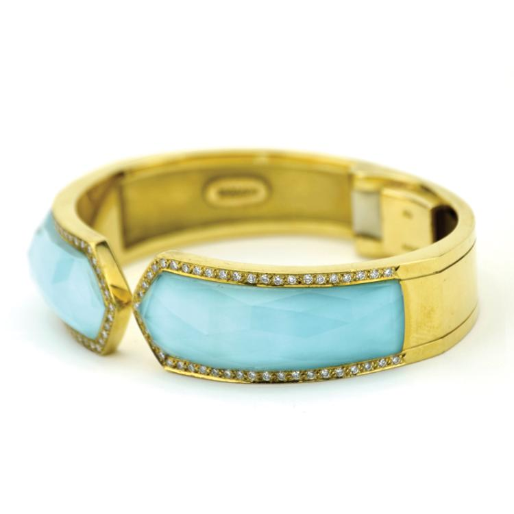 Lisa Marie Presley's Diamond and Turquoise Bracelet by Stephen Webster from Nicolas Cage