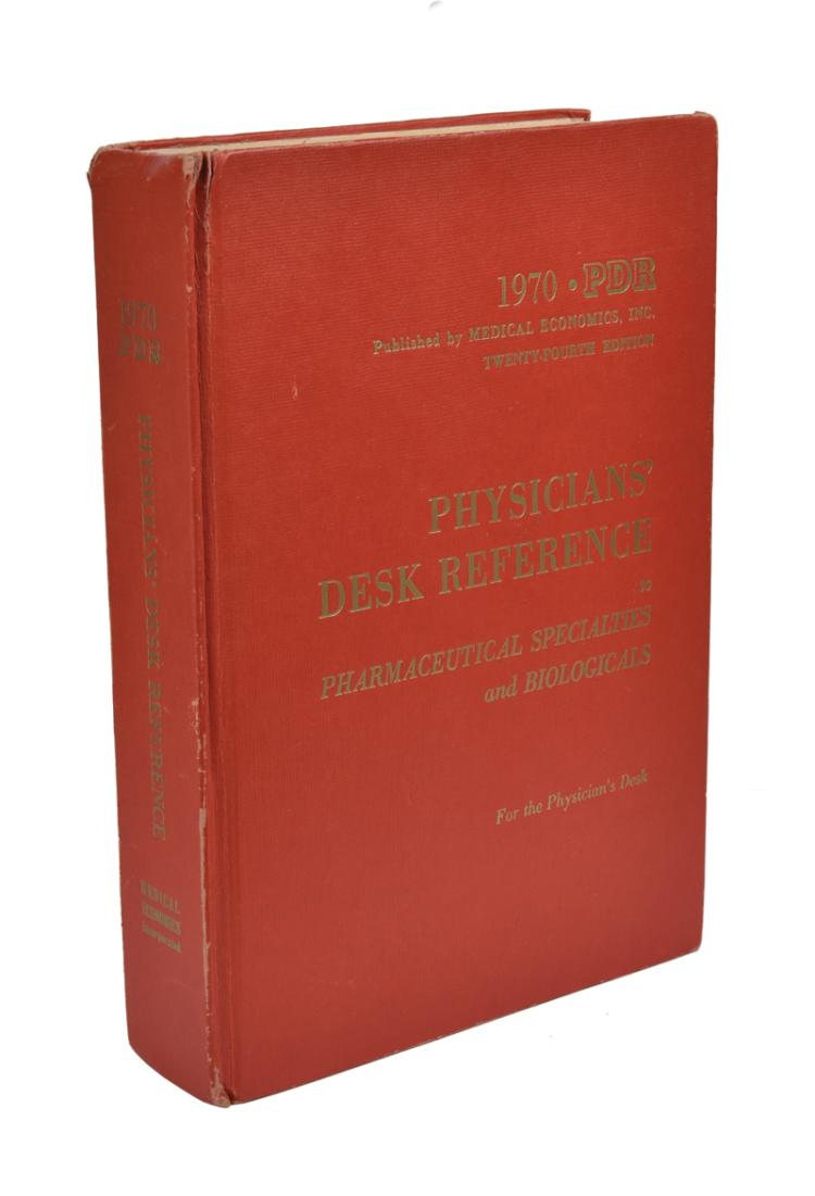 1970 Elvis Presley's Personally Owned Copy of <em>Physicians' Desk Reference</em>