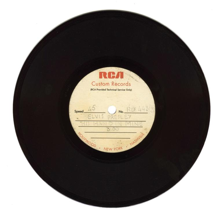 1969 7-Inch 45 RPM Acetate for Elvis Presley's