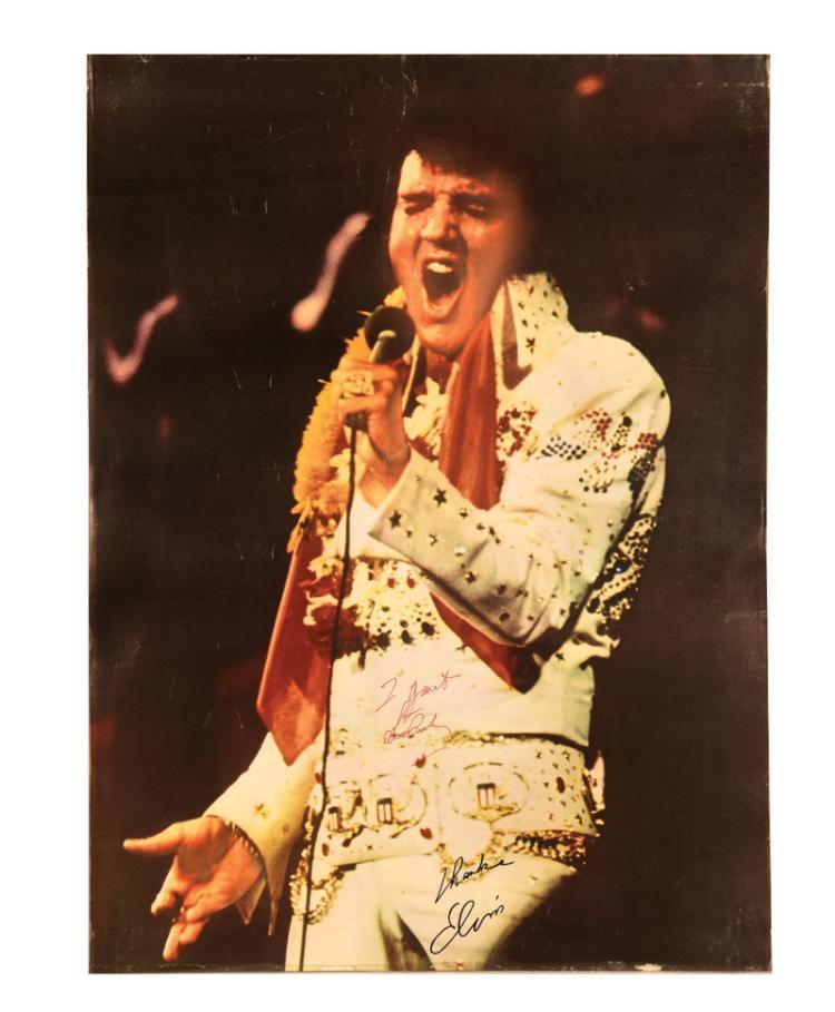 Elvis Presley Signed Promotional Poster