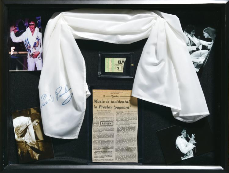 October 2, 1974 Elvis Presley Stage-Worn Souvenir Scarf Handed to a Fan in the Audience