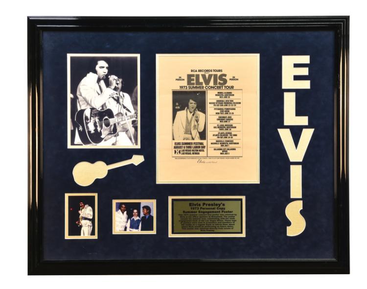 1973 Elvis Presley Summer Concert Tour Poster Emanating from Graceland