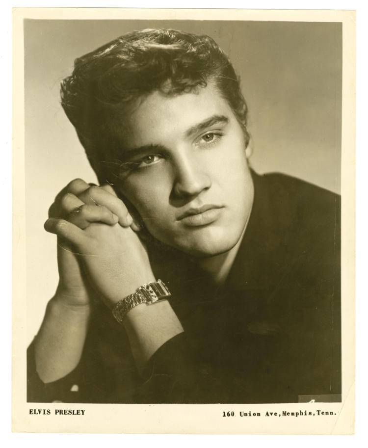 1955 Elvis Presley Signed Early Promotional Photo