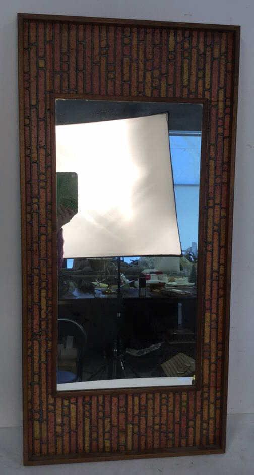 Vintage mod handmade wall mirror unusual handmade mirror wit - Unusual large wall mirrors ...