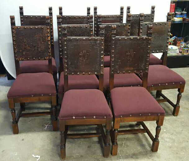 Antique Set Of 10 Spanish Colonial Dining Chair Antique Set