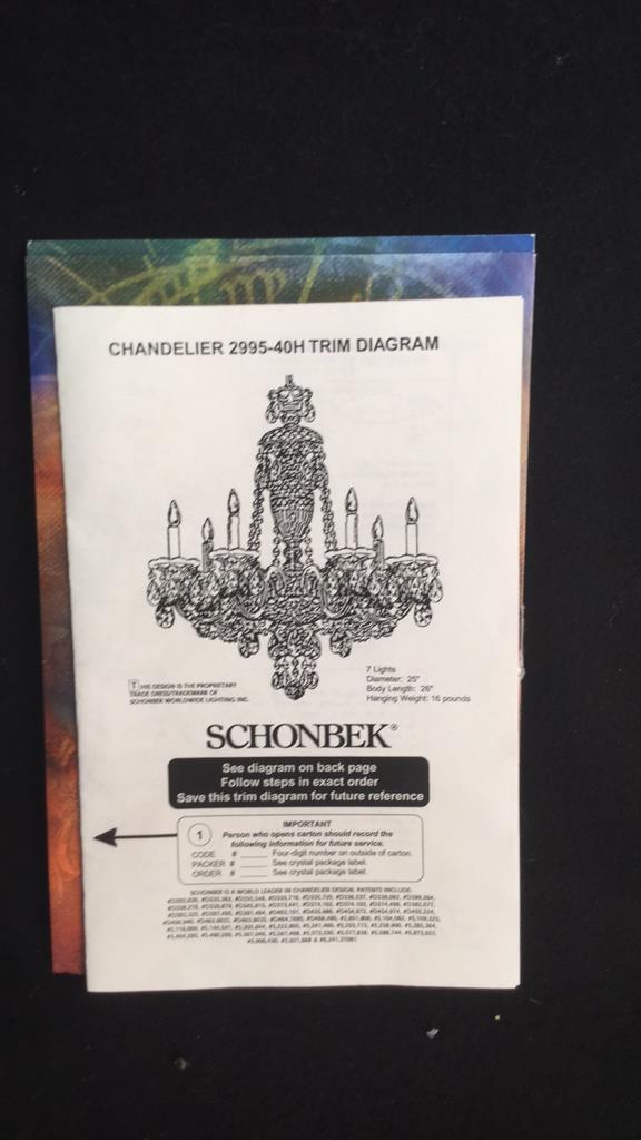 Schonbek Fine Crystal Branched Chandelier