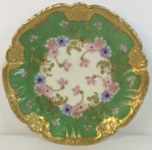 Floral Detailed LIMOGES Porcelain Plate w Gold