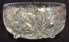 Cut Crystal Footed Centerpiece Bowl