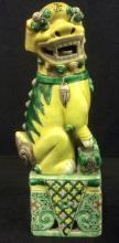 Antique Ceramic Chinese Temple Lion