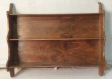 Vintage Hanging Carved Wooden Wall Shelf