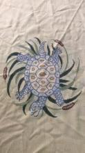 Turtle & Leaf Detailed Hand Made Wool Rug