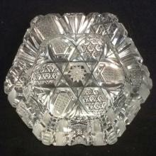Intricately Cut Crystal Ash Trays