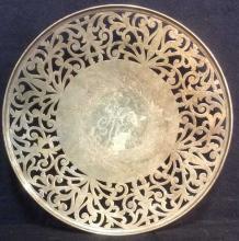 Sterling Pierced Ornately Detailed Platter