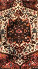 Handmade Antique Floral Detailed Wool Rug