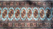Fringed Wool Oriental Carpet Runner
