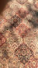 Multi Toned Floral Detailed Wool Rug