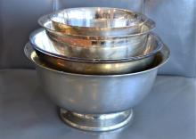 Set of 4 Nesting Silverplated Bowls