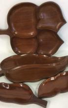Set 4 Teak Collectible Serving Pieces