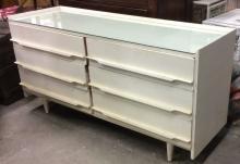 Mid Century Modern White Toned Dresser