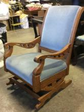 Maria Wuerch Carved Upholstered Arm Chair
