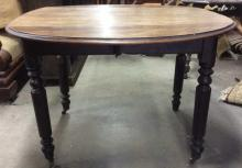 Antique Wooden Round Drop Leaf Dining Table