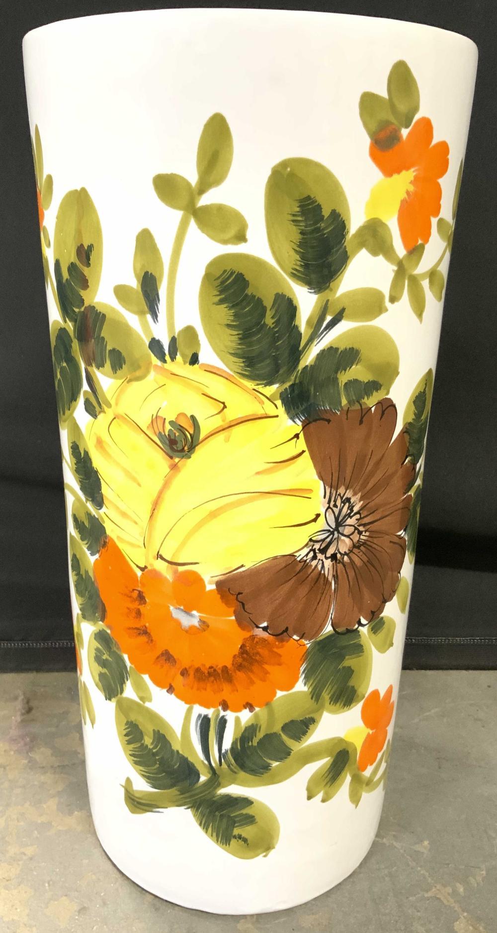 Italian Porcelain Planter Umbrella Holder