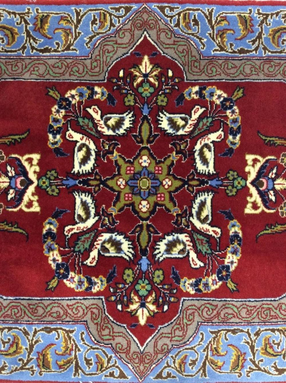 Hand Knotted Wool Pile Iranian Carpet