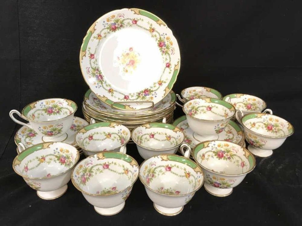 Shelley English Porcelain Dessert Set Dubarry
