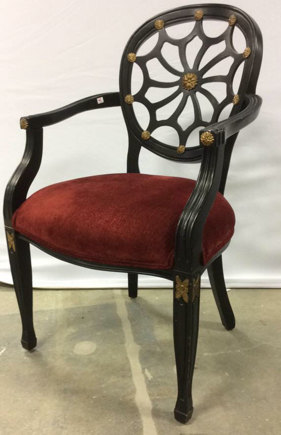 Black Gold Painted Arm Chair