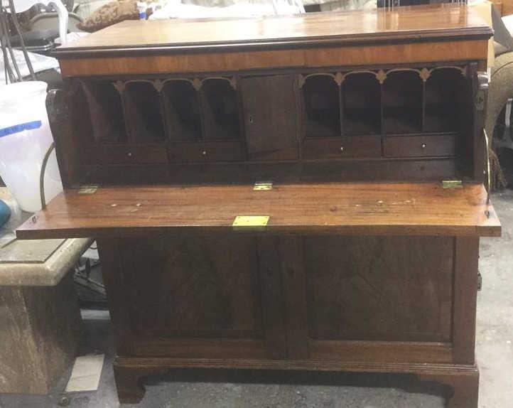 Antique Drop Front Secretary Desk Chest