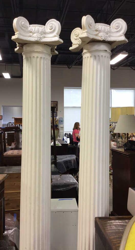 Pair decorative architectural columns for Decorative structural columns