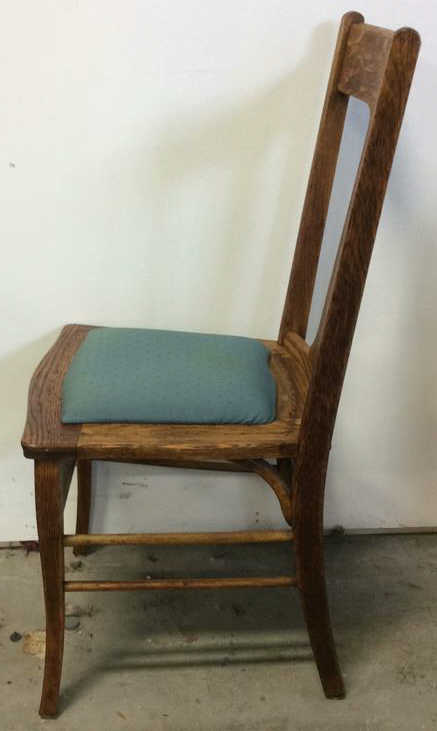 antique mission side chair