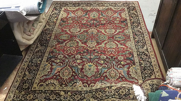 Hand knotted wool abc carpet area rug for Abc carpet home inc
