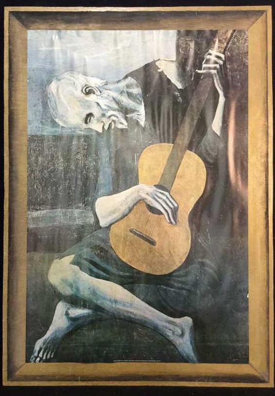 the old guitarist pablo picasso Don't be deceived by this seemingly simple painting of a man and his instrument  pablo picasso's the old guitarist has secrets in its past and.