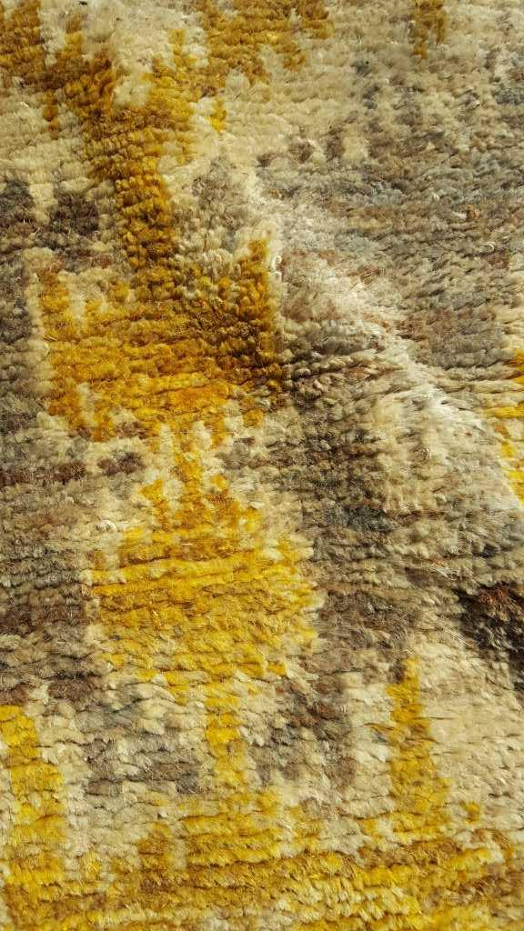 Ikat Gray Gold Wool Carpet From Country Willow