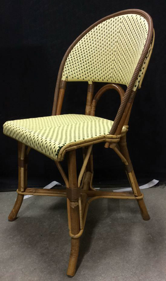 French Cafe Style Woven Resin Bamboo Chair