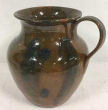 Handmade Studio Art Pottery Vase With Handle