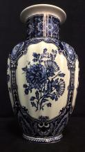 Ceramic Porcelain Floral Detailed Vase