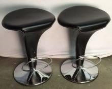 Pair Cattelan Italia Leather Boss Stools
