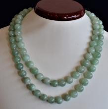 Single Strand Aventurine Bead Necklace