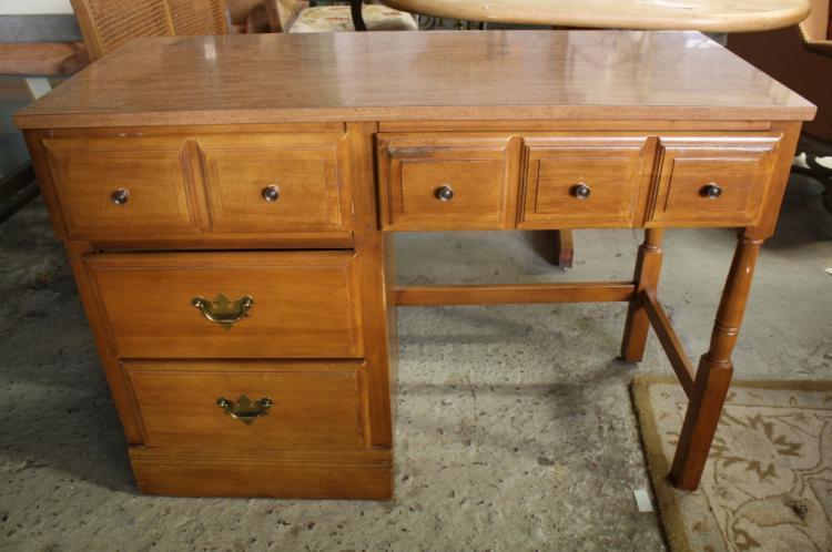 Maple Wood Desk And Nightstand