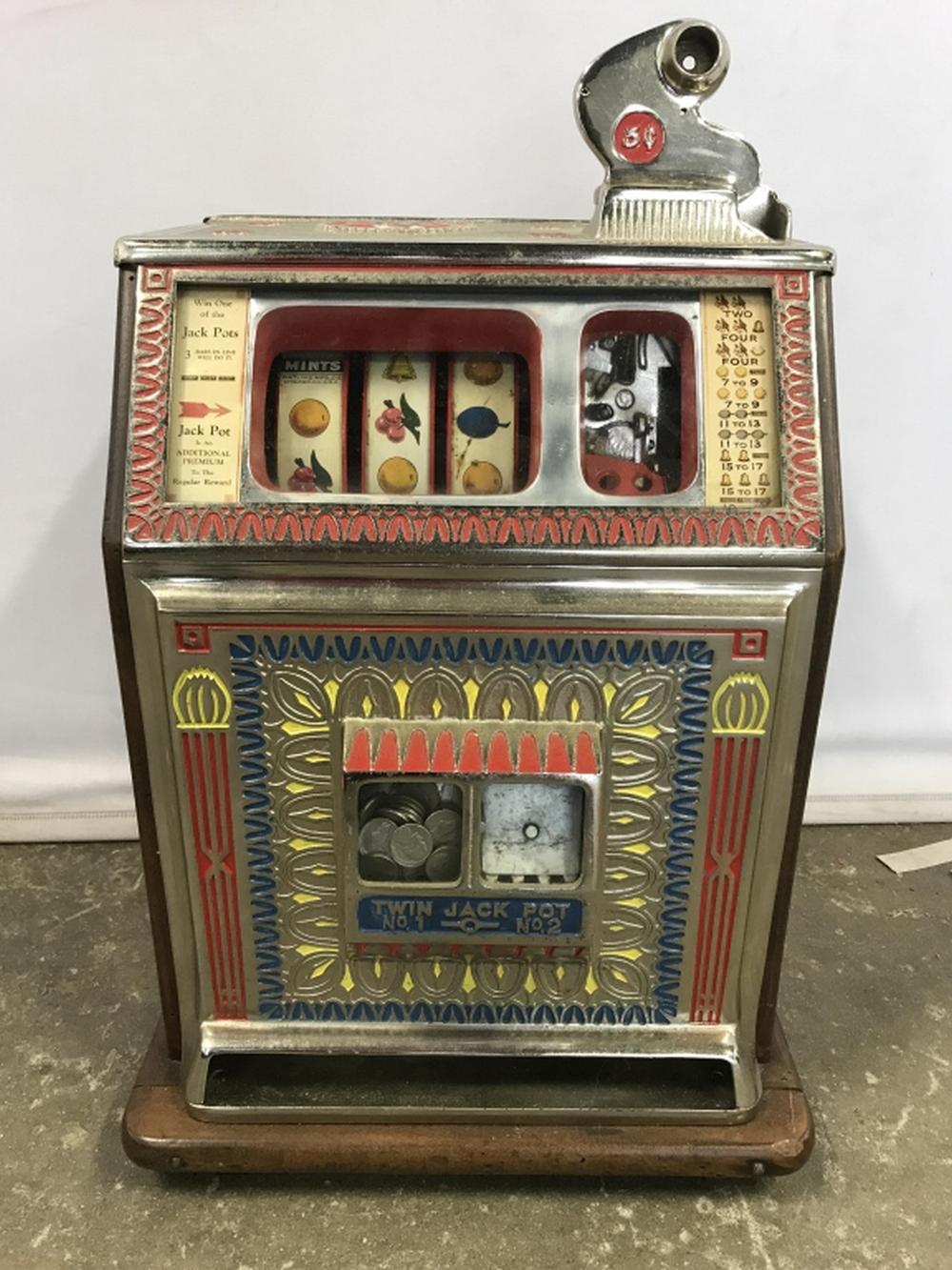 """Vintage 1933 Watling """"Blue Seal"""" Slot Machine"""