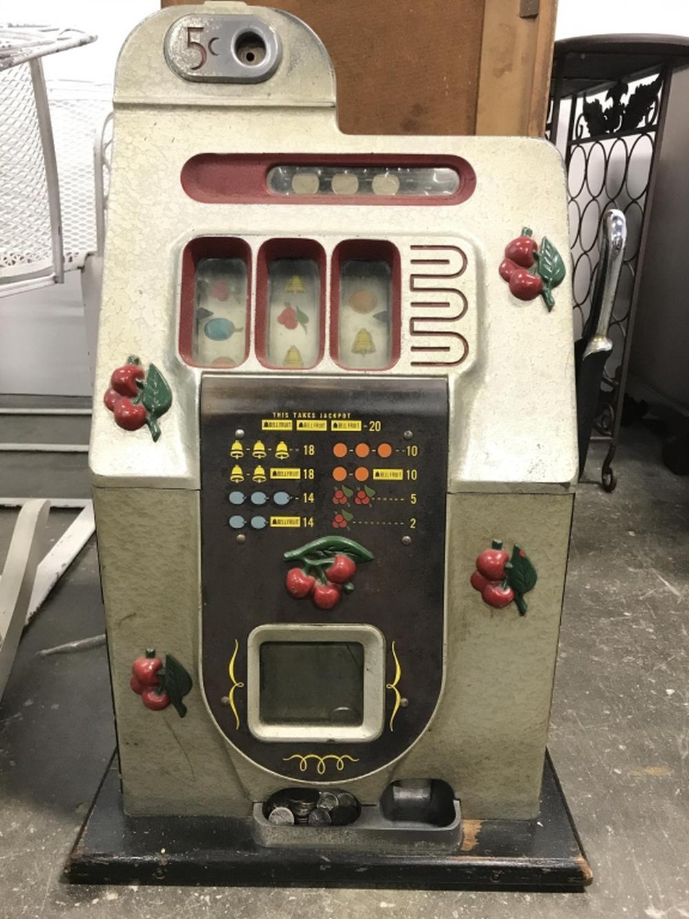 "Vintage 1939 Mills ""Black Cherry"" Slot Machine"