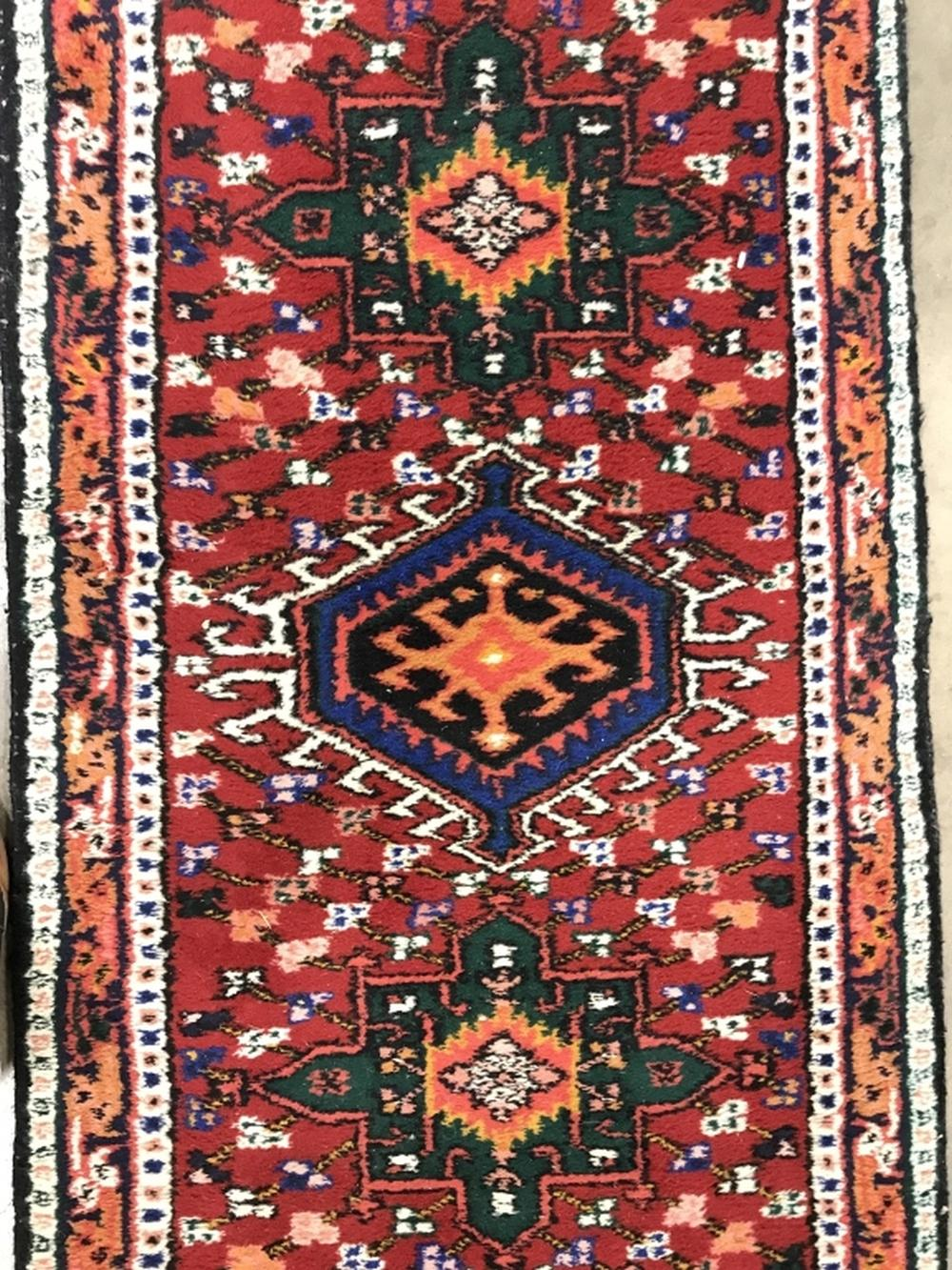 Handmade Multi Toned Persian Wool Runner