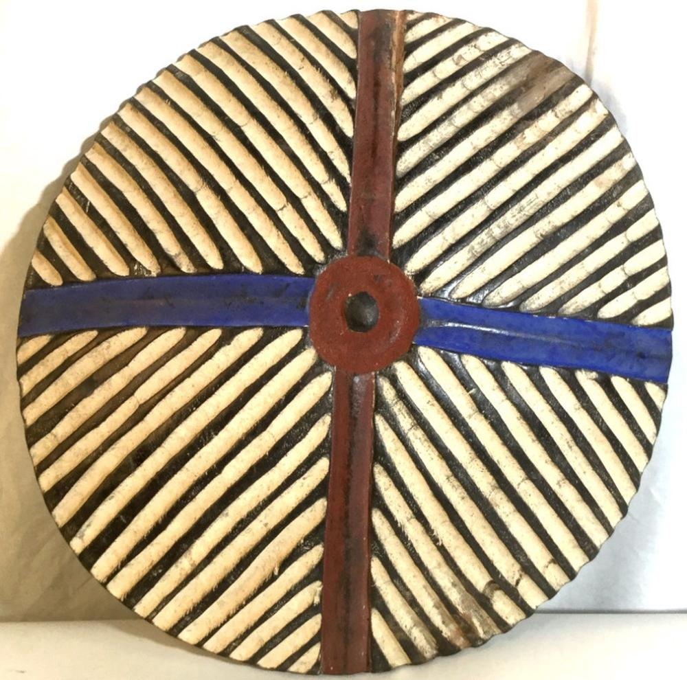 African Art Carved Zulu Shield from South Africa